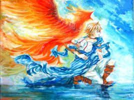 MAGI : Alibaba with a Fire Bird by Shumijin
