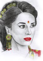 Pandava's Wife by vector10