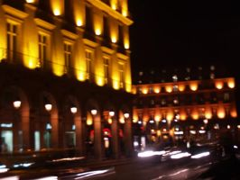 the lights at night in france by treehugginhippie