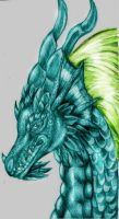 emerald dragoness by emeraldnephilim8