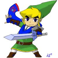 Hyrule Warriors: Toon Link by AlphaHawk98