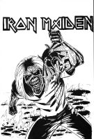 Iron Maiden tribute piece by cerebraleye