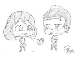 Chibi Duncan and Courtney by applehead302