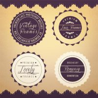 Lace Stamps Premium Photoshop Brushes by Romenig
