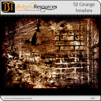 52 Grunge Photoshop brushes by BuburuResources