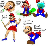 mario drawings....our style by KimiSaku19