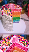 This Cake is a Rainbow by Kilaicious