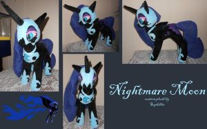 My Little Pony Custom Nightmare Moon Plush by Sophillia