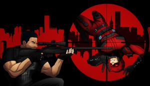 Punisher vs Daredevil by shamserg