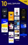 Creative Bundle of 10 Email Template by Shizoy