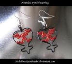 Heartless Symbol Earrings by MelodiousRoseDuelist
