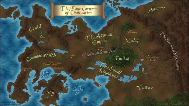 The Kingkiller Chronicle's map by xxtayce