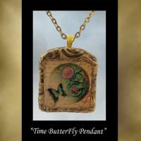 ButterFly Time Pendant by KabiDesigns