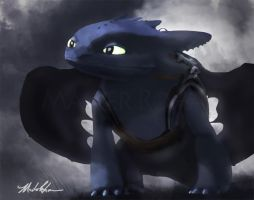Toothless Portrait by masterrohan