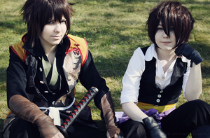 Hakuoki - Souji and Heisuke by Lirlys