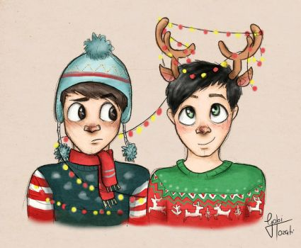 Festive Dan and Phil by GabiTozati