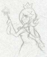 Rosalina's Side Taunt :Sketch: by Xero-J