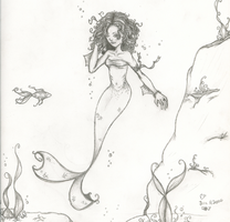 Curly Haired Mermaid by MistakenReality
