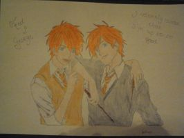The Weasley twins by MoonlightRose18
