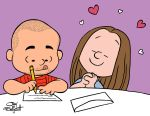 Peanuts couple's portrait by JayFosgitt