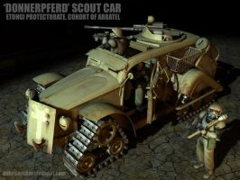 'Donnerpferd' Scout Car by MikeDoscher