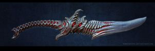 Ahriman's Sword sculpting by FirstKeeper