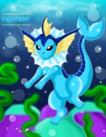 Gorgeous Vaporeon by Bowser2Queen