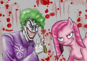The joker and Pinkimadema!!!! by NeroScottKennedy