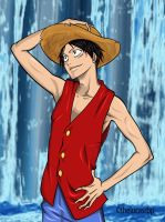 Luffy version Tite Kubo by thelucasrbp