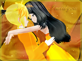 MMD-I need you [Gis and Len] by TaniaVocaloid