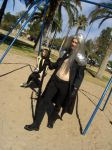 Sephiroth at the Swings by InnocentWsh