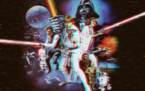 Star Wars poster in 3-D by MVRamsey