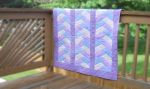 Baby Try Color Braid Quilt by SarahPixel