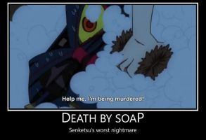Death by Soap demotivatoinal by tie-dye-flag