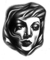 Woman practice tattoo design by LarcDEAR