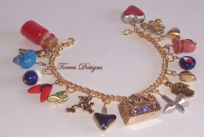 1st Ocarina of Time GT Charm Bracelet Zelda OOAK by TorresDesigns