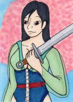 Sexy Disney ATC: Mulan by anne-t-cats
