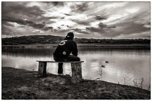 My favorite place - BW by PixyPen