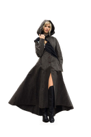 cloaked blonde woman by CallMeHarbinger96