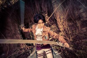 Attack on Titan SNK Levi by eleanoryoko
