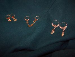 Washer Hoop Earrings Trio by stardove3