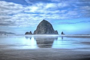Haystack Rock Cannon Beach HDR by AaronPlotkinPhoto
