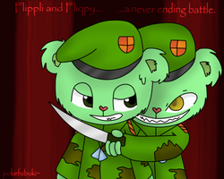 Flippy and Fliqpy. by pokefubuki