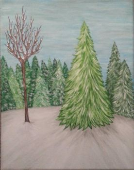 pre-lit holiday painting by smunk1