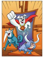 Krypto and Dog Star Partol by ScottCohn