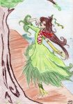 Green dress fairy by 402ShionS3