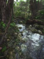 Woodland Stream by curious3d
