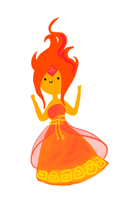 Flame Princess by fluffnuffs