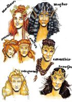 Feanor-7-sons-color by deviant-yochianu