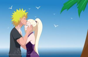 It will be alright... Naruto and Ino by BloodyRiley
